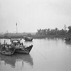 Boats Near Hoi Ahn by Stangus