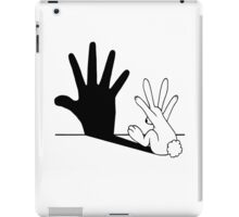 Rabbit Hand Shadow iPad Case/Skin