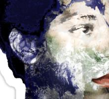 Warhol Polaroid Earth Basquiat Africa Europe King Of the World Sticker