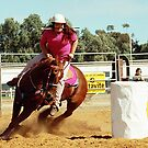 Barrel Racing by Jenny Brice