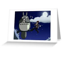 Totoro and the Doctor's Midnight Musicale Greeting Card