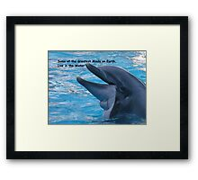 Some of the Greatest Minds on Earth, Live in the Water Framed Print