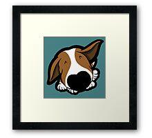 Big Nose Bull Terrier Puppy Framed Print