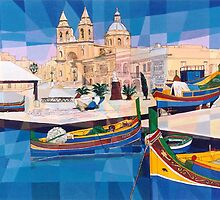 Marsaxlokk Fishing Village-MALTA by Joseph Barbara