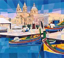 Marsaxlokk Fishing Village-MALTA by Joseph Barbara