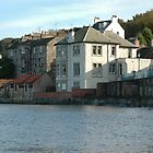 Waterfront houses in South Queensferry by Jackie Wilson