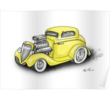HOTROD BEAST CHEV STYLE Poster