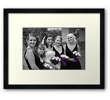 Bridesmaids Selective in Colour Framed Print