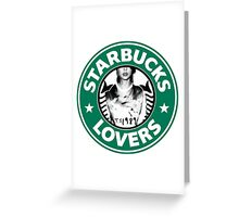 Starbucks Lovers Taylor Swift 1989 Greeting Card