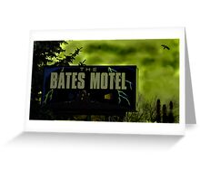 Bate's Motel Greeting Card