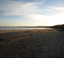 Sunset on the beach by nikki newman