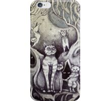 they danced under the light of the moon cat art iPhone Case/Skin