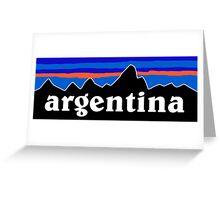 Argentina - logo mashup Greeting Card