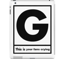Gerard Way This Is Your Fans Crying iPad Case/Skin