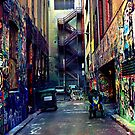 Graffiti - Flinders Lane by AnnieD