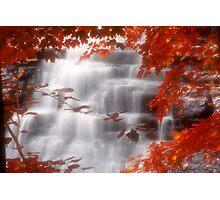 Autumn Waterfall I Photographic Print