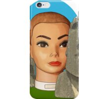 head of easter island iPhone Case/Skin