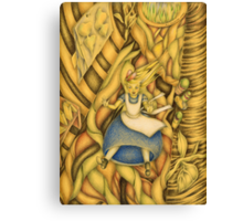 Alice down the rabbit-hole Canvas Print