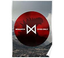 Monarch Eyes Only - Godzilla 2014 Poster
