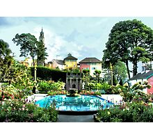 Italian Gardens - Portmeirion Village Photographic Print