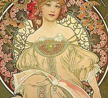 Alphonse Mucha Painting III by Heidi Hermes