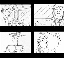 coffee storyboards - unrendered by Liesl Yvette Wilson