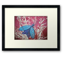Collograph: Dobson Fly Framed Print