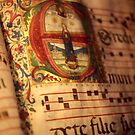 Illuminated manuscript, in medieval library by cascoly