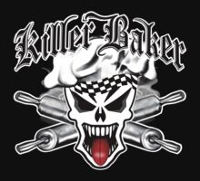 Baker Skull 2.1: Killer Baker and Crossed Rolling Pins T-Shirt
