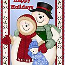 Snowman Snow Family Christmas  by SpiceTree