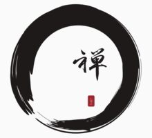 """Zen"" calligraphy & Enso circle of enlightenment T-Shirt"