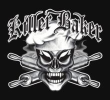 Baker Skull 8: Killer Baker and Crossed Rolling Pins T-Shirt