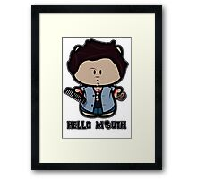 Sup Mouth Framed Print
