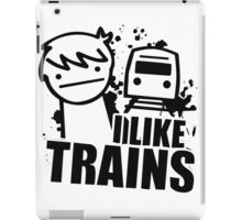 ASDF I LIKE TRAINS VIDEO MOVIE FUNNY iPad Case/Skin