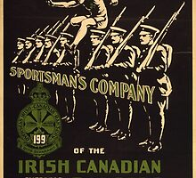 'Irish Canadian Ranger' Vintage Poster (Reproduction) by Roz Abellera Art Gallery