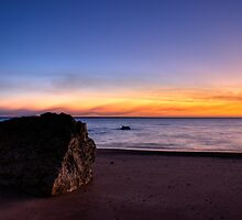 Sunset on beach by Wicksey