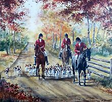 Autumn Hounds and Horses by JKHowsarePearl