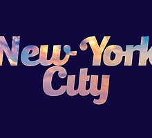 New York City Skyfont by PresentDank