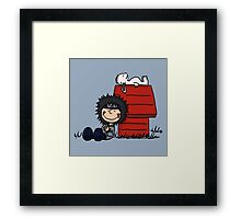 The Kiba & Akamaru Show Framed Print