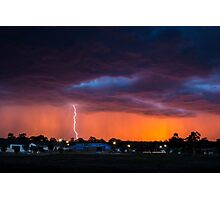 Lightning Sunset Photographic Print