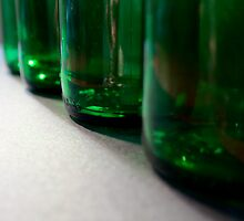 4 green bottles.... by Victoria Kidgell
