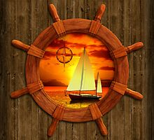 Sailboat Sunset by Packrat
