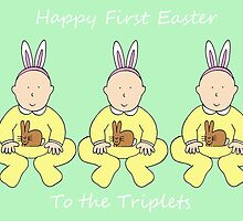 Triplets First Easter by KateTaylor