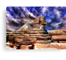 Giza's mighty sphinx  Canvas Print