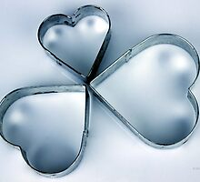 Vintage Metal Heart Cookie Cutter Set  by © Sophie W. Smith