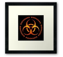 Biohazard Zombie Warning Framed Print
