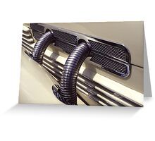 1937 Cord Phaeton Supercharger Pipes Greeting Card