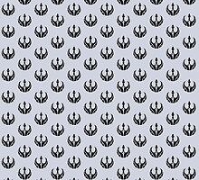 Rebels Segmented Logo (Black on Grey, Pattern 2) by JoshBeck