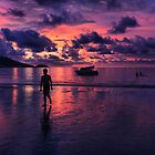 Patong beach sunset by Robyn Lakeman