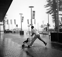 Rainy Corso IX - Tribute to Henri Cartier-Bresson by Mel Colman
